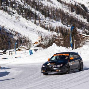 Coaching Trio Subaru Sti Glace par Rallye Académie Gard