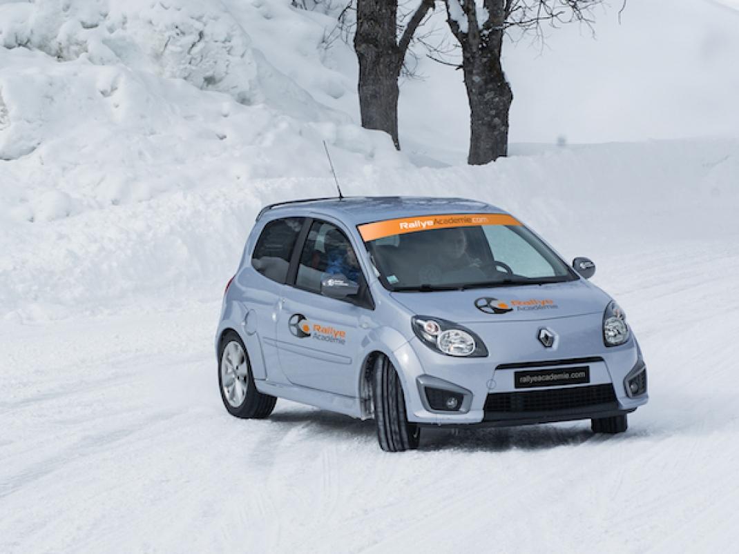 Rallye Académie propose Coaching Trio Twingo RS Glace Circuit Gard (30)