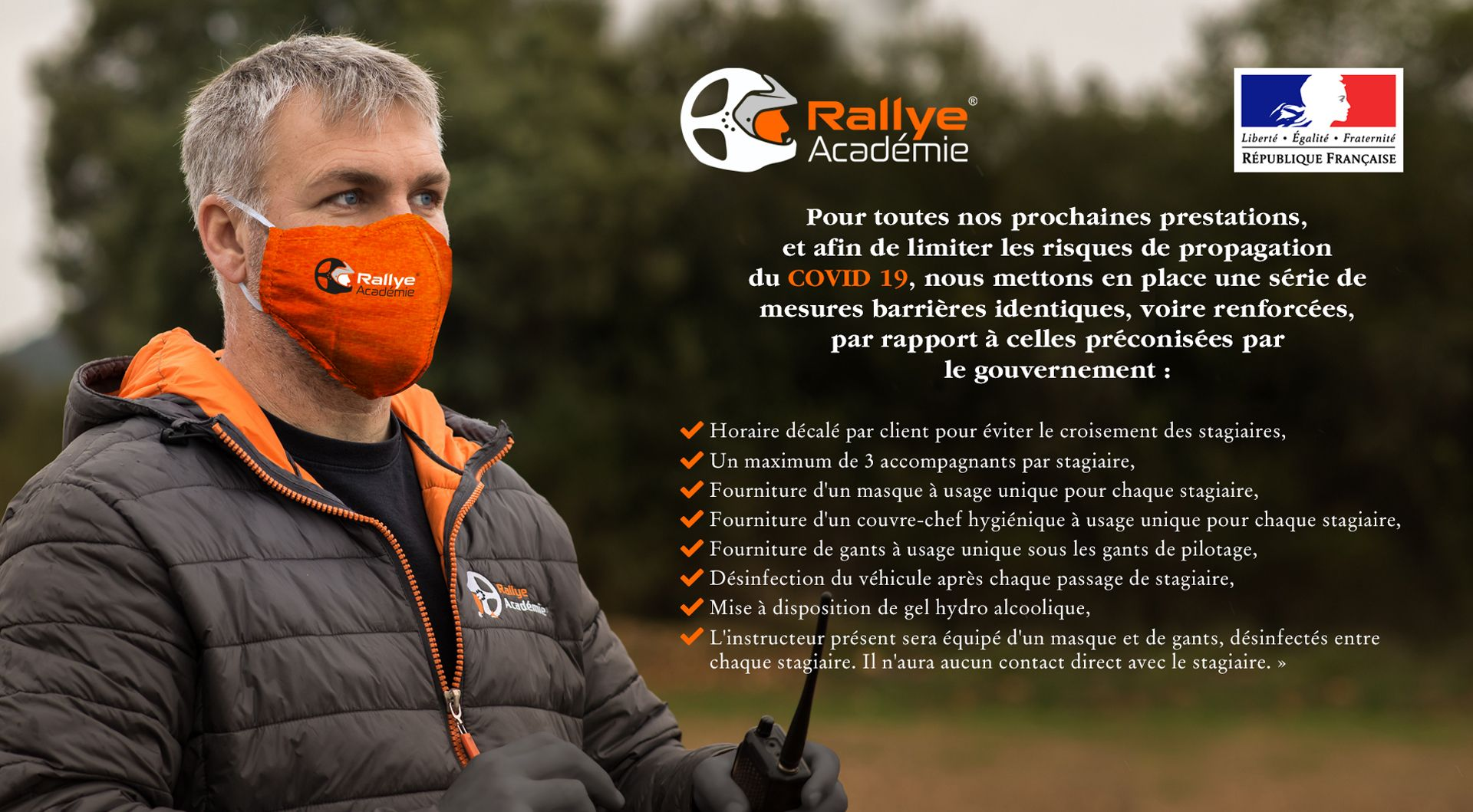 info covid Rallye Académie